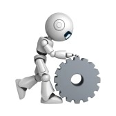 10065456-funny-robot-walk-with-cogwheel