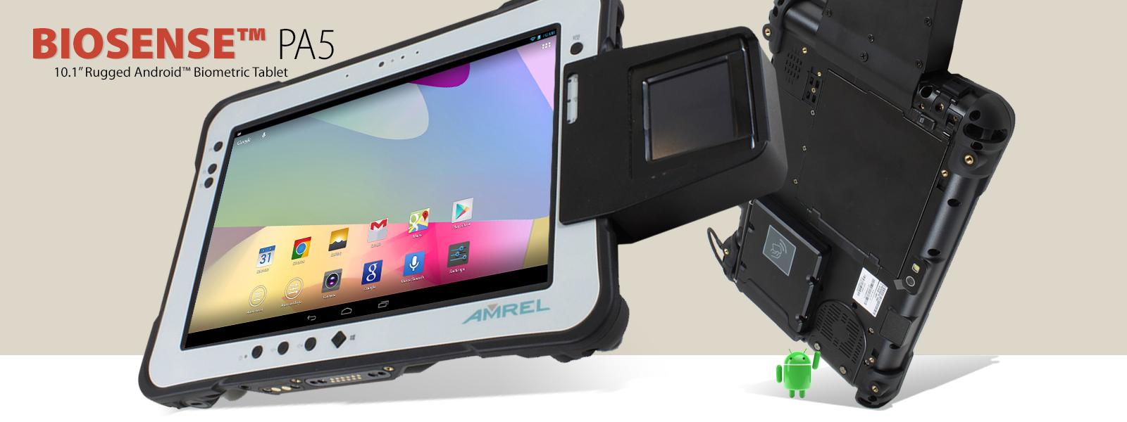 Rugged Biometric Tablets (Android)   AMREL com